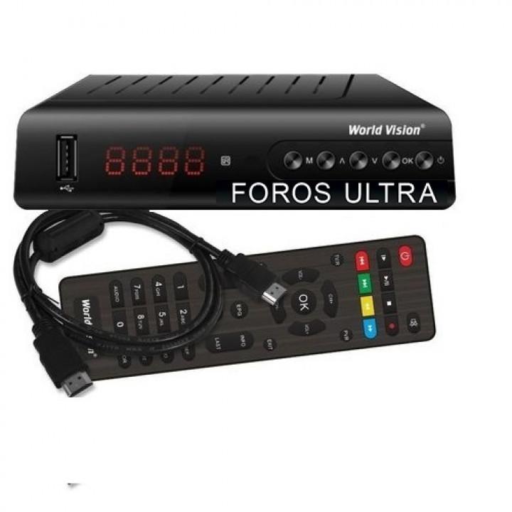 Цифровой эфирный ТВ приёмник World Vision Foros Ultra